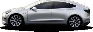 Silver Tesla