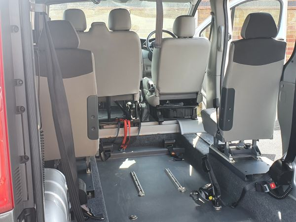 car rear interior
