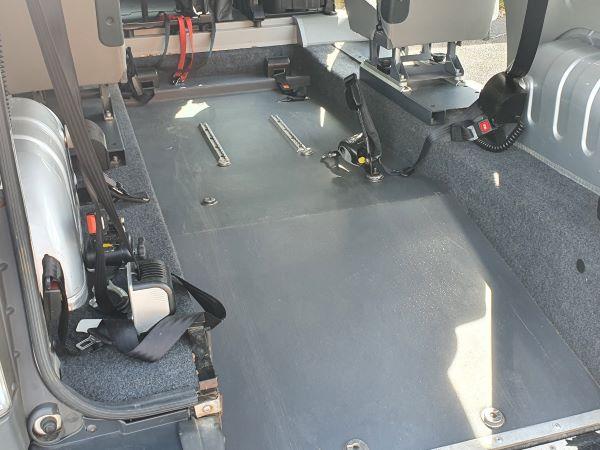 car rear wheelchair position floor