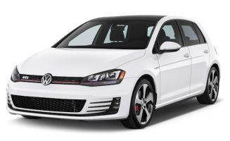 White Volkswagen Golf