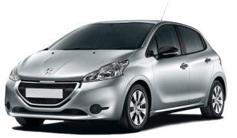 Silver Peugeot 208